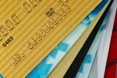 Pilha de cartões de crédito Fotografia de Stock