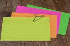 Pilha de cartões de deslocamento predeterminado Fotografia de Stock