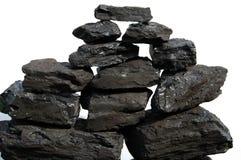Pilha de carvão Fotos de Stock