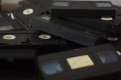 Pilha de cassetes de banda magnética do VHS Imagem de Stock Royalty Free