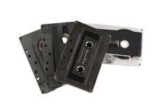 Pilha de cassetes compactos Fotos de Stock