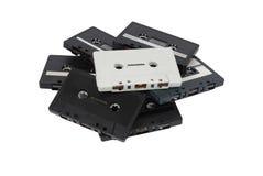 Pilha de cassetes de banda magnética Imagens de Stock Royalty Free