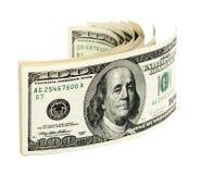 Pilha de cem contas de dólar E.U. Imagem de Stock