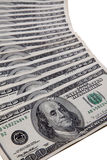 Pilha de cem dólares americanos Foto de Stock Royalty Free