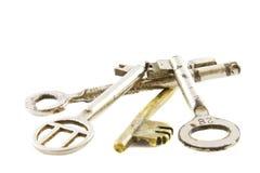 Pilha de chaves velhas Fotografia de Stock Royalty Free