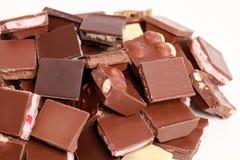 Pilha de chocolate Imagens de Stock Royalty Free
