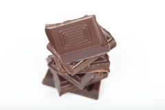 Pilha de chocolate Fotografia de Stock