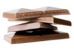 Pilha de chocolate de leite Fotografia de Stock