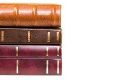 Pilha de close up dos livros Fotografia de Stock