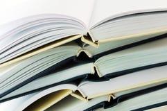 Pilha de close up dos livros Foto de Stock
