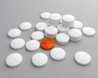Pilha de comprimidos Foto de Stock