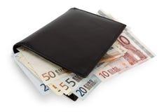 Pilha de conta na carteira Imagem de Stock Royalty Free