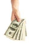 Pilha de contas de dólar Foto de Stock Royalty Free