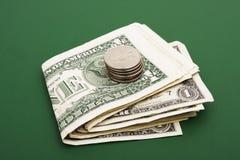 Pilha de contas de dólar Foto de Stock