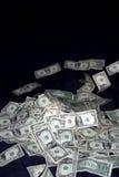 Pilha de contas de dinheiro do dinheiro imagens de stock royalty free