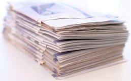 Pilha de contas de dinheiro Fotos de Stock