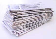 Pilha de contas de dinheiro Imagens de Stock