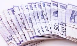 Pilha de contas de dinheiro Fotos de Stock Royalty Free