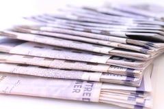 Pilha de contas de dinheiro Imagem de Stock