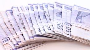 Pilha de contas de dinheiro Foto de Stock Royalty Free