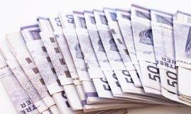 Pilha de contas de dinheiro Imagens de Stock Royalty Free