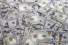 Pilha de $100 contas EUA Fotos de Stock Royalty Free