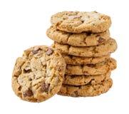 Pilha de cookie friável do pedaço do chocolate imagens de stock