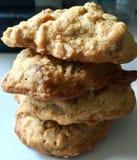 Pilha de cookies caseiros Fotografia de Stock