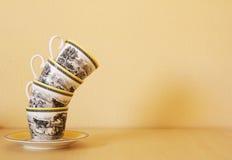 Pilha de copos de café Imagem de Stock