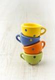 Pilha de copos de chá do vintage Fotografia de Stock Royalty Free