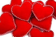 Pilha de corações Fotografia de Stock Royalty Free