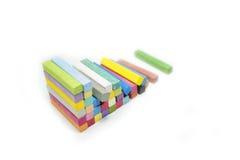 Pilha de cores da variedade da cor pastel do giz Foto de Stock Royalty Free