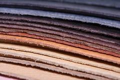 Pilha de couro Fotografia de Stock