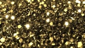 Pilha de cristais dourados brilhantes ilustração stock