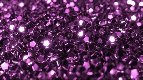 Pilha de cristais roxos lustrosos vídeos de arquivo