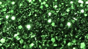Pilha de cristais verdes brilhantes video estoque