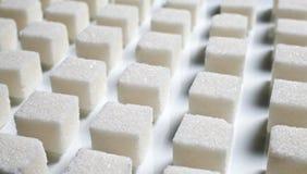 Pilha de cubos do açúcar Imagem de Stock Royalty Free