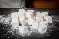Pilha de cubos do marshmallow Imagem de Stock Royalty Free