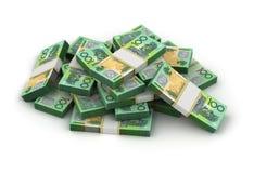 Pilha de dólar australiano Fotos de Stock