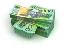 Pilha de dólar australiano Fotografia de Stock Royalty Free