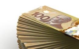 Pilha de dólar canadense Fotografia de Stock Royalty Free