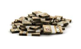 Pilha de dólar canadense Fotos de Stock Royalty Free