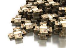 Pilha de dólar canadense Fotografia de Stock