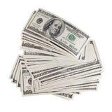 Pilha de dólares. Fotografia de Stock