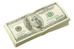 Pilha de dólares Fotografia de Stock