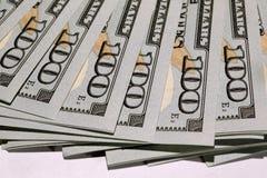 Pilha de dólares Foto de Stock
