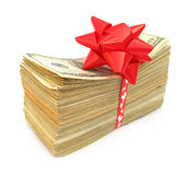 Pilha de dólares americanos Fotografia de Stock Royalty Free