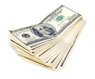 Pilha de dólares americanos Fotografia de Stock