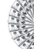 Pilha de 100 dólares no branco Fotografia de Stock Royalty Free