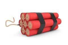 Pilha de dinamite vermelha Imagens de Stock